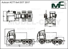 Autocar ACTT 6x4 DOT '2017 - drawing