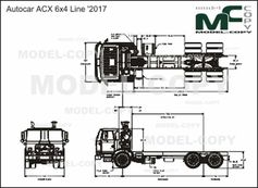 Autocar ACX 6x4 Line '2017 - drawing