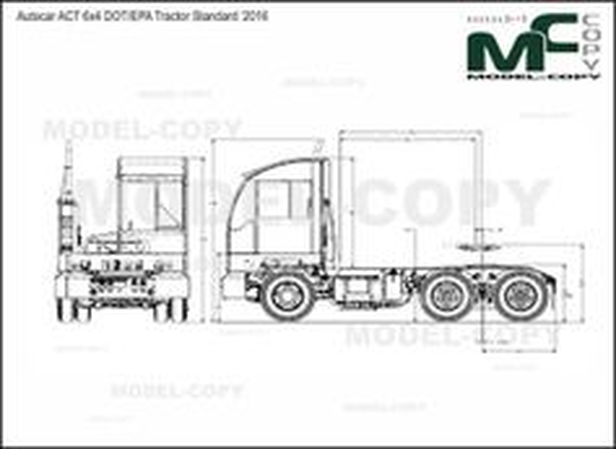 Autocar ACT 6x4 DOT/EPA Tractor Standard '2016 - drawing