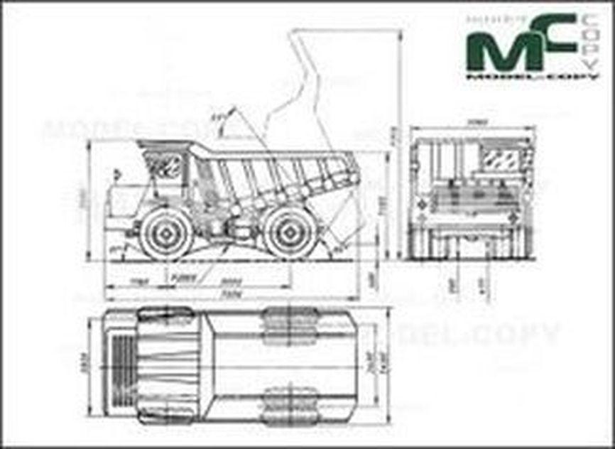 BelAZ-540 - 2D drawing (blueprints)
