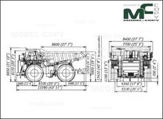BelAZ-75305 - 2D drawing (blueprints)