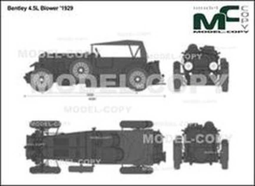Bentley 4.5L Blower '1929 - 2D-чертеж