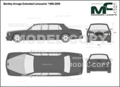 Bentley Arnage Extended Limousine '1998-2009 - 2D図面