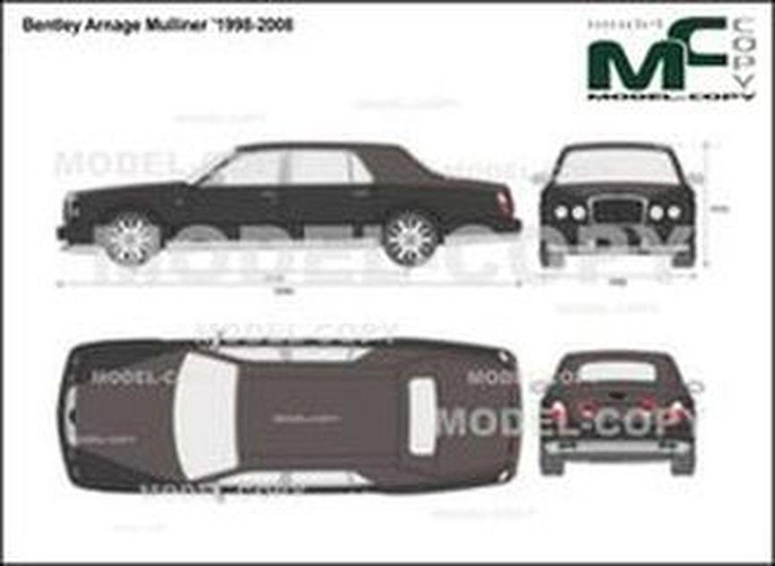 Bentley Arnage Mulliner '1998-2008 - 2D-чертеж