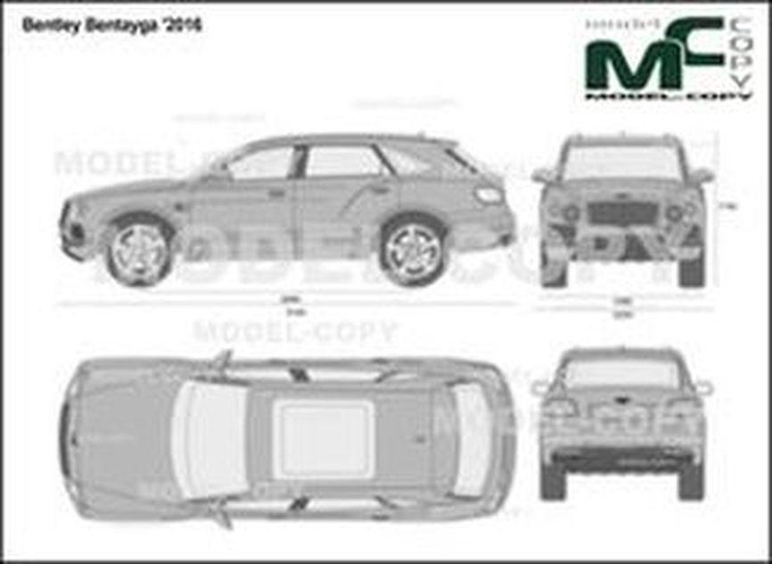 Bentley Bentayga '2016 - 2D drawing (blueprints)