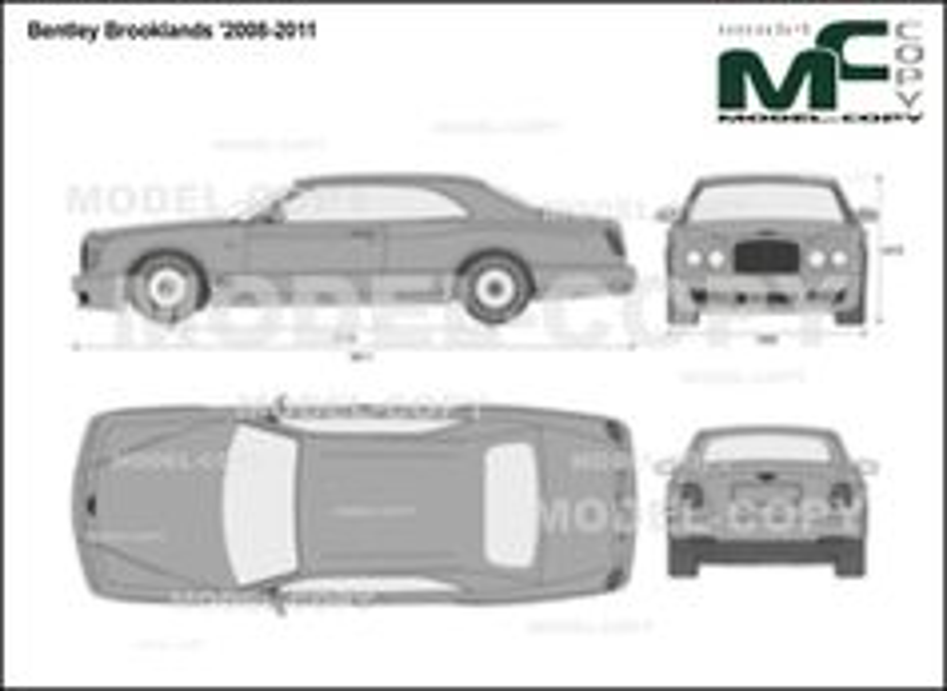 Bentley Brooklands '2008-2011 - 2D-чертеж