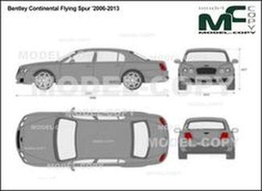Bentley Continental Flying Spur '2006-2013 - 2D-чертеж