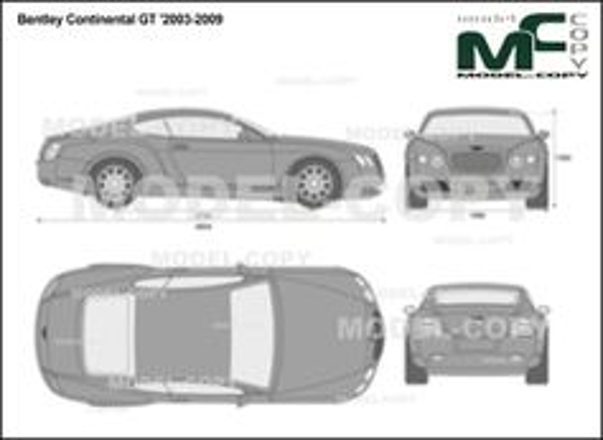 Bentley Continental GT '2003-2009 - 2D drawing (blueprints)