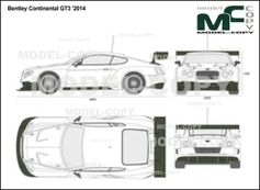 Bentley Continental GT3 '2014 - 2D drawing (blueprints)