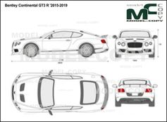 Bentley Continental GT3 R '2015-2019 - 2D図面