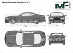Bentley Continental SuperSports '2017 - 2D drawing (blueprints)