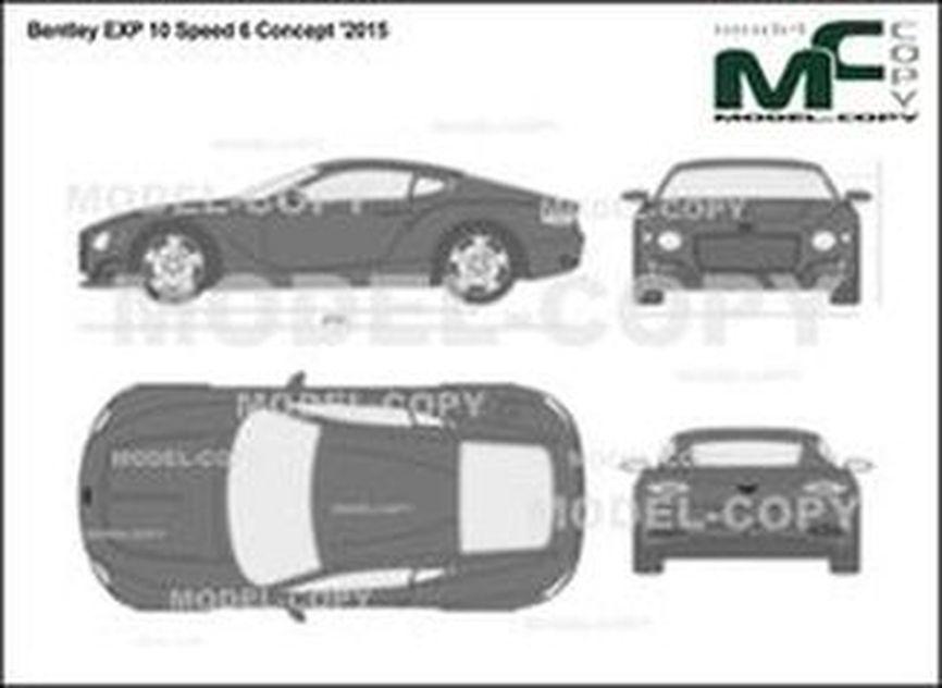 Bentley EXP 10 Speed 6 Concept '2015 - 2D-чертеж