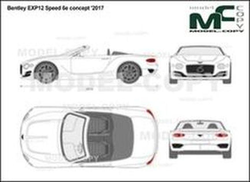 Bentley EXP12 Speed 6e concept '2017 - 2D-чертеж