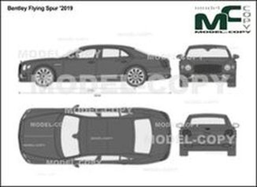 Bentley Flying Spur '2019 - 2D図面