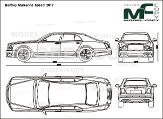 Bentley Mulsanne Speed '2017 - 2D-чертеж