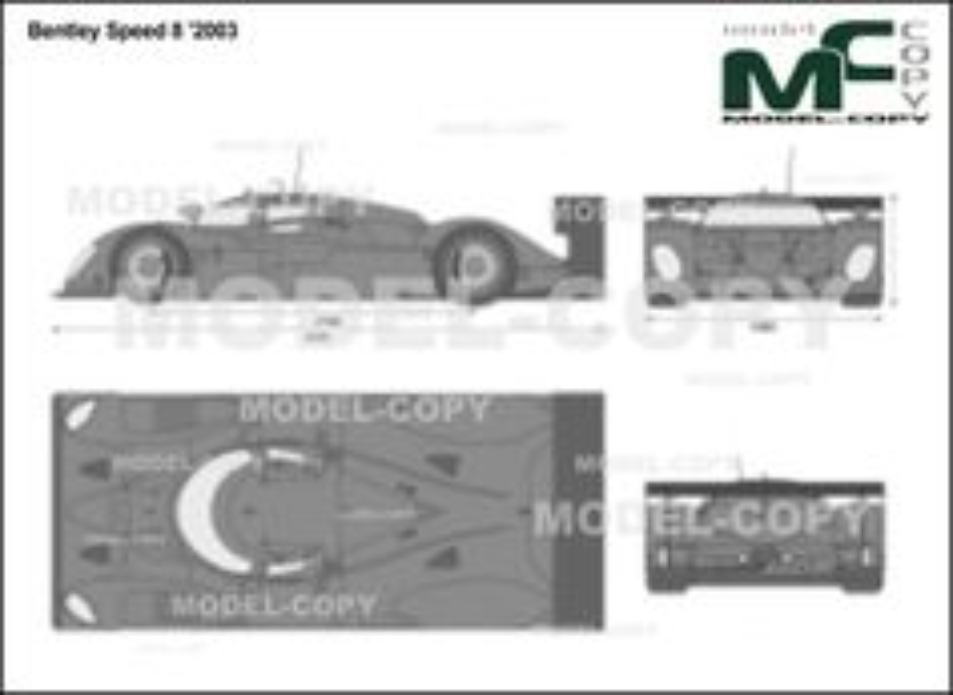 Bentley Speed 8 '2003 - 2D drawing (blueprints)
