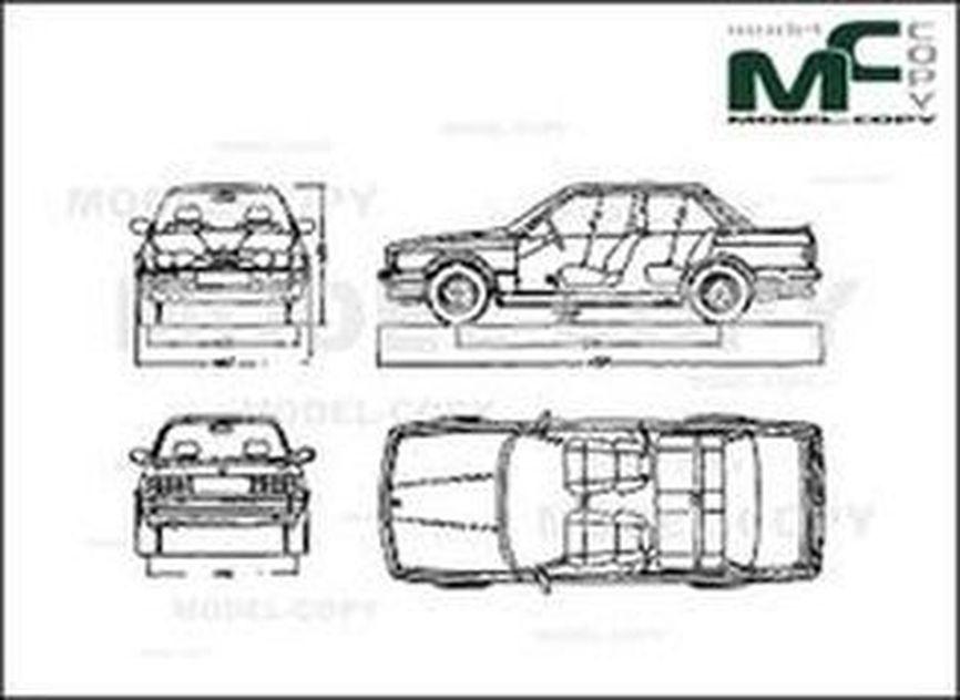 Bmw 3 Series E30 Drawing 30157 Model Copy