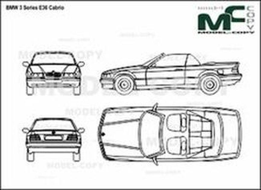Bmw 3 Series E36 Cabrio Drawing 30162 Model Copy