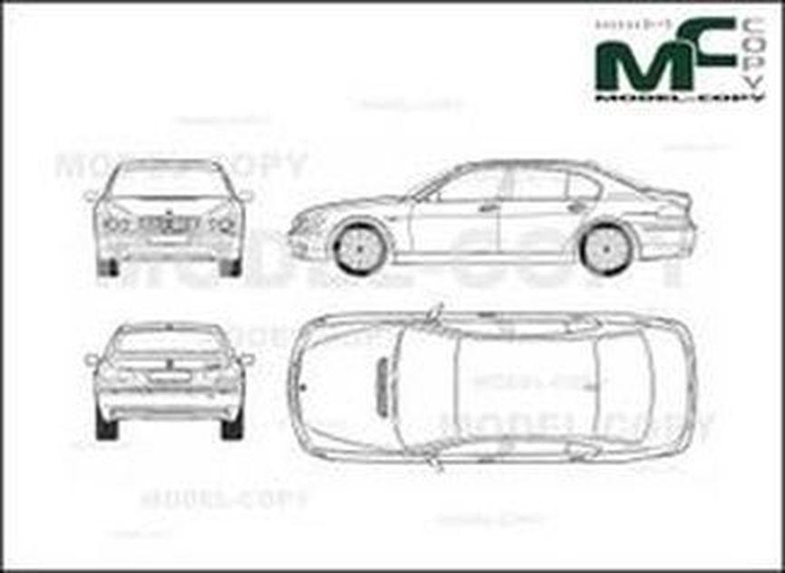 BMW 7 Series E66 Limousine (2005) - 2D drawing (blueprints)