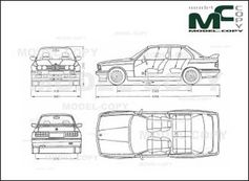 Bmw M3 E30 Drawing 30213 Model Copy