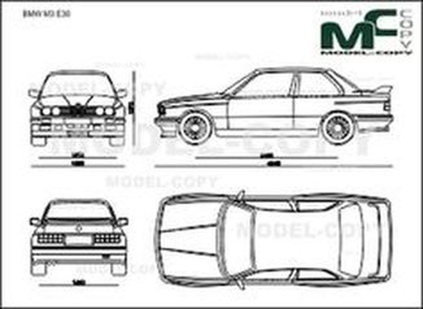 Bmw M3 E30 Desenho 2d 30213 Model Copy