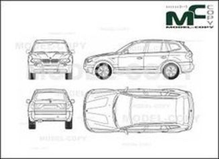 Bmw X3 E83 2003 Drawing 30228 Model Copy
