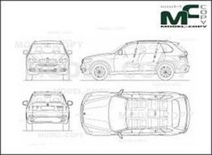 Bmw X5 E70 Desenho 2d 30232 Model Copy