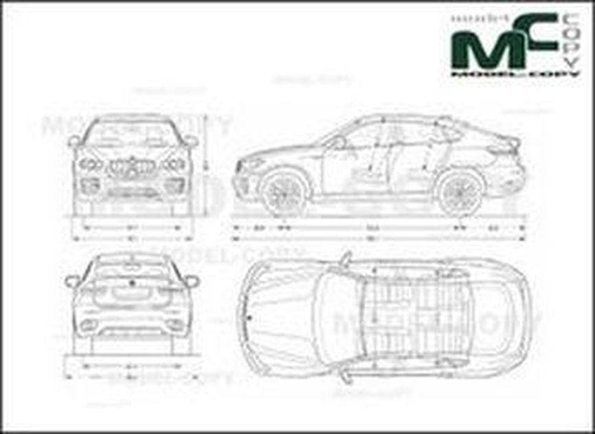 Bmw X6 E71 2008 Drawing 30233 Model Copy