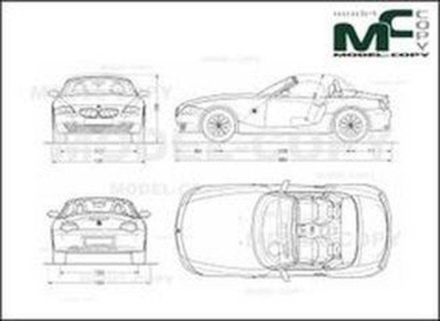 bmw z4 e85 roadster  2006  - drawing - 30238