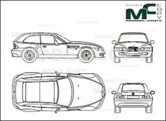bmw z3 coupe  01  98  - drawing - 25560