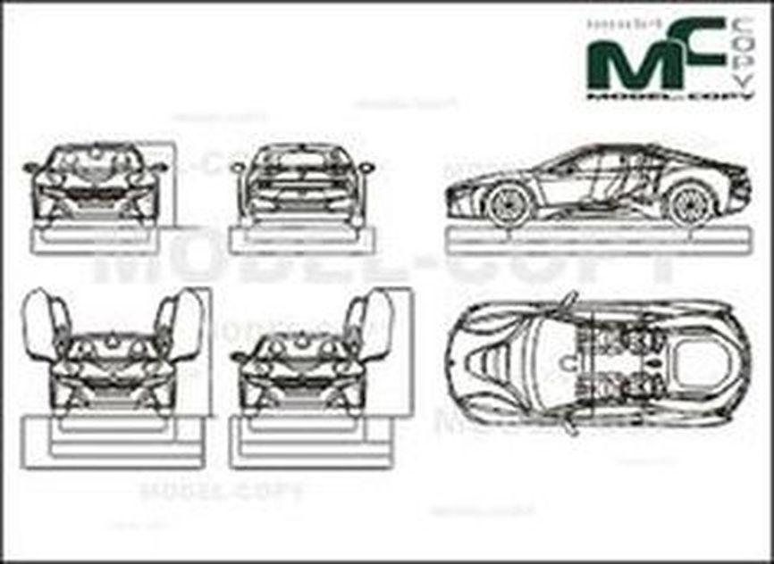 Bmw I8 2014 Drawing 32783 Model Copy