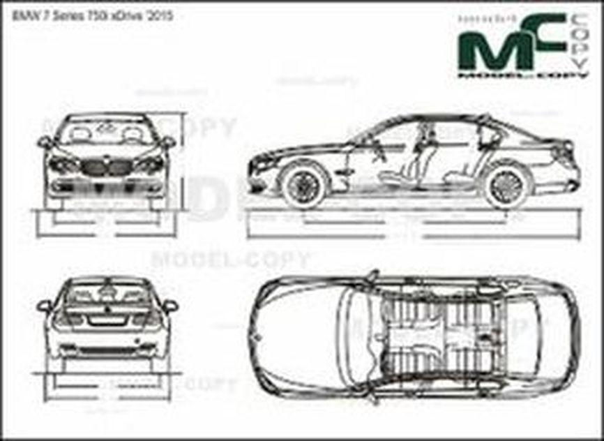 BMW 7 Series 750i xDrive '2015 - drawing