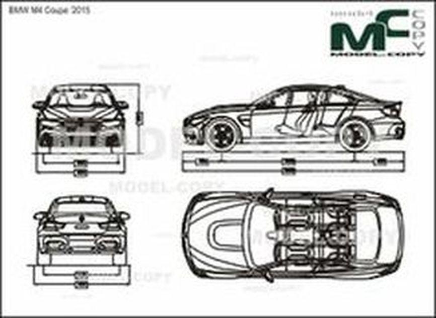 BMW M4 Coupe '2015 - 2D drawing (blueprints)