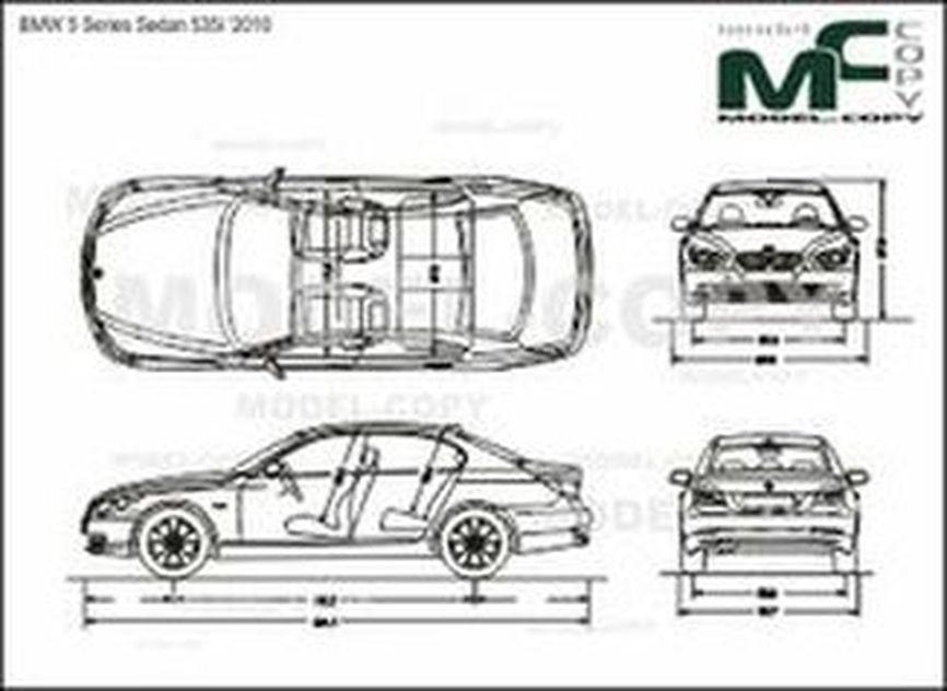 BMW 5 Series Sedan 535i '2010 - 2D drawing (blueprints)