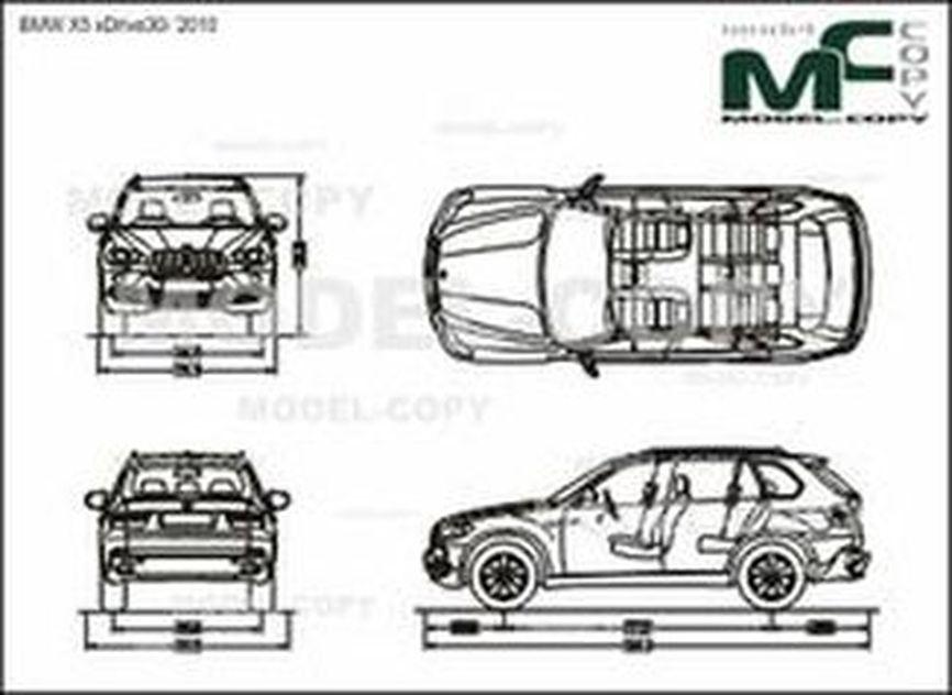 BMW X5 xDrive30i '2010 - 2D drawing (blueprints)