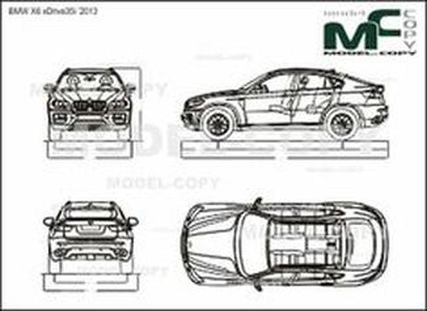 Bmw X6 Xdrive35i 2013 Drawing 39500 Model Copy