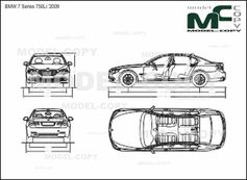 BMW 7 Series 750Li '2009 - drawing
