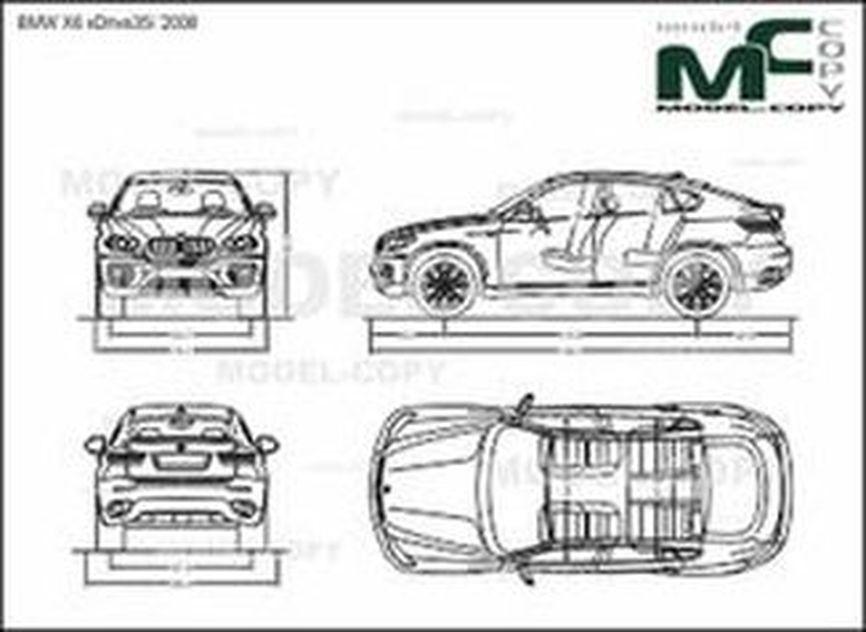 Bmw X6 Xdrive35i 2008 Drawing 39866 Model Copy