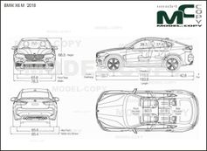 BMW X6 M '2018 - drawing