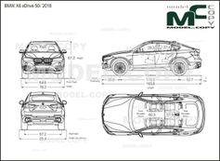 BMW X6 xDrive 50i '2018 - drawing