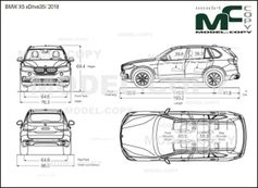 BMW X5 xDrive35i '2018 - drawing