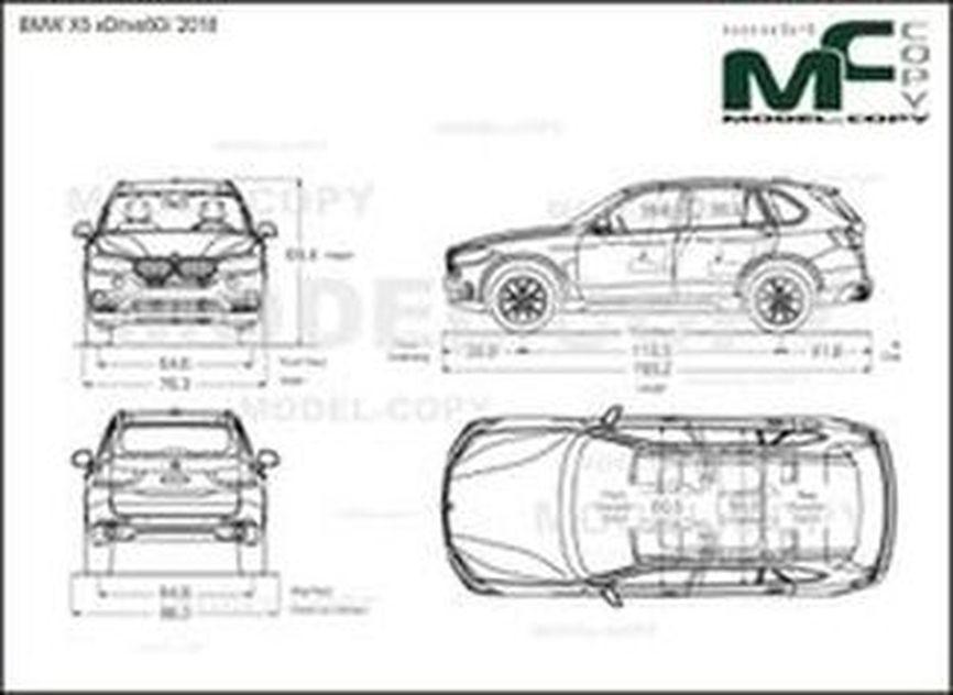 BMW X5 xDrive50i '2018 - drawing