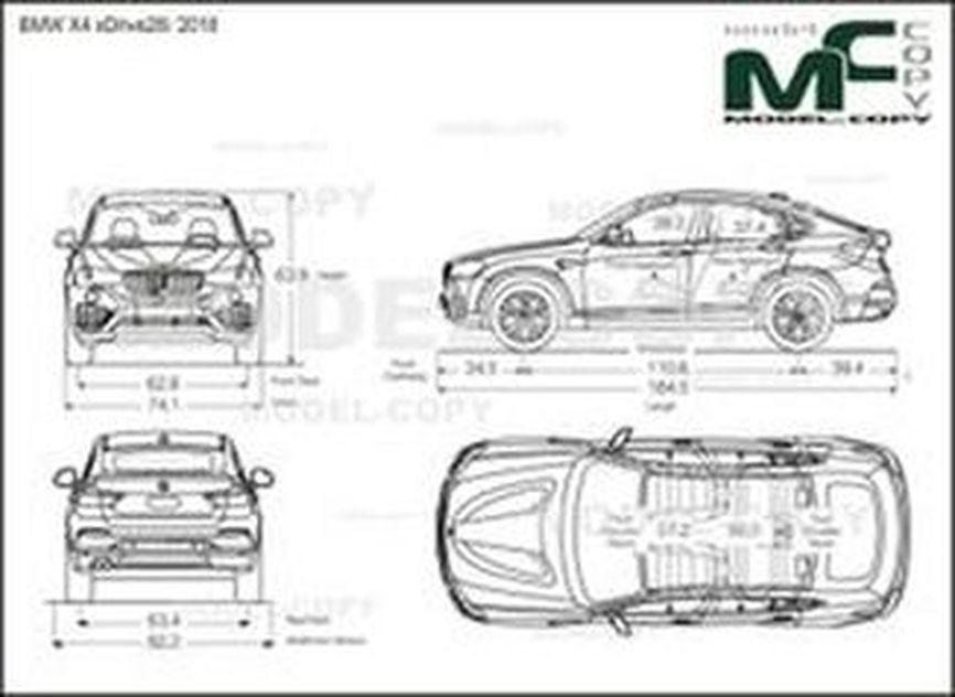 BMW X4 xDrive28i '2018 - 2D-чертеж