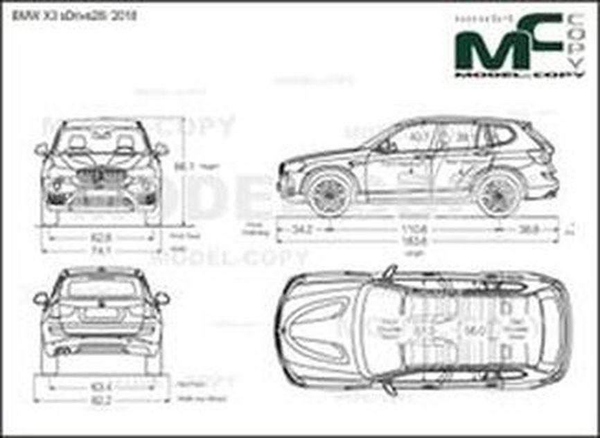 BMW X3 sDrive28i '2018 - drawing