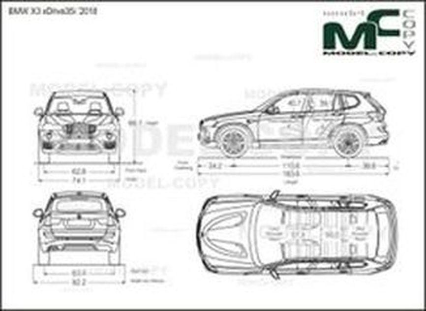 BMW X3 xDrive35i '2018 - drawing