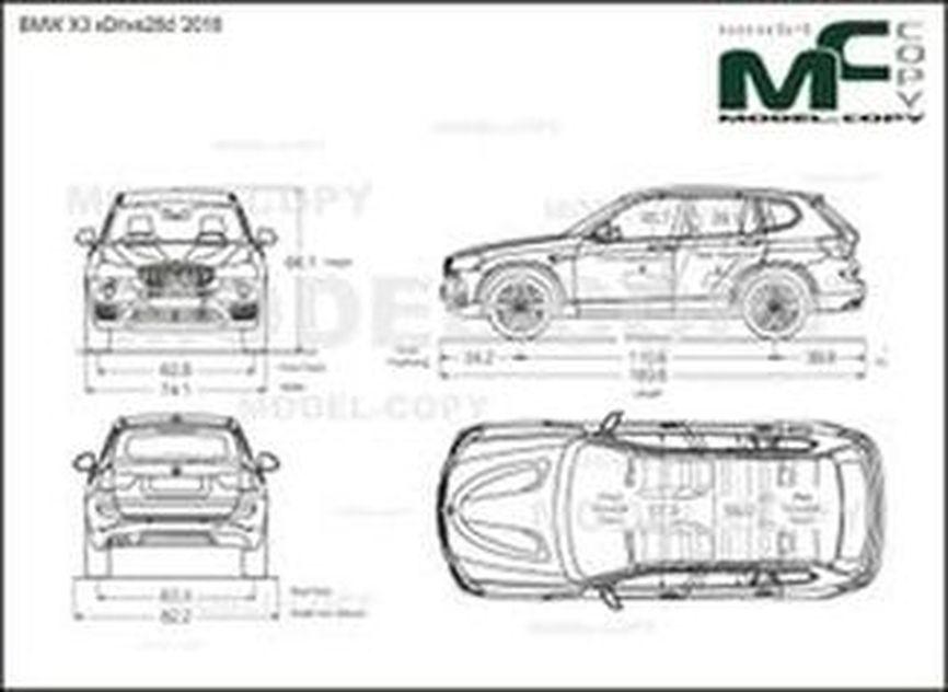 BMW X3 xDrive28d '2018 - drawing