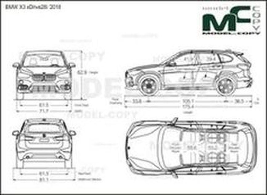 BMW X3 xDrive28i '2018 - drawing