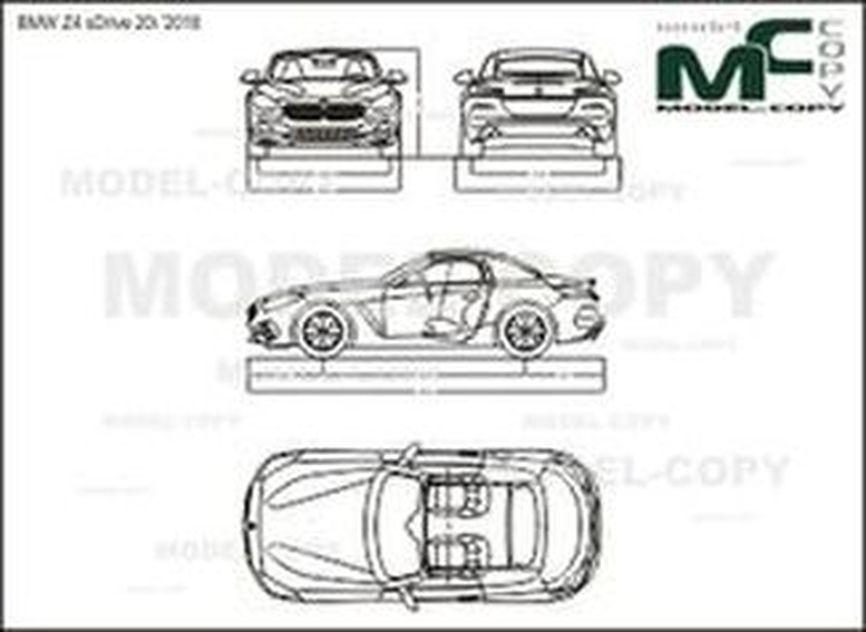 BMW Z4 sDrive 20i '2018 - drawing
