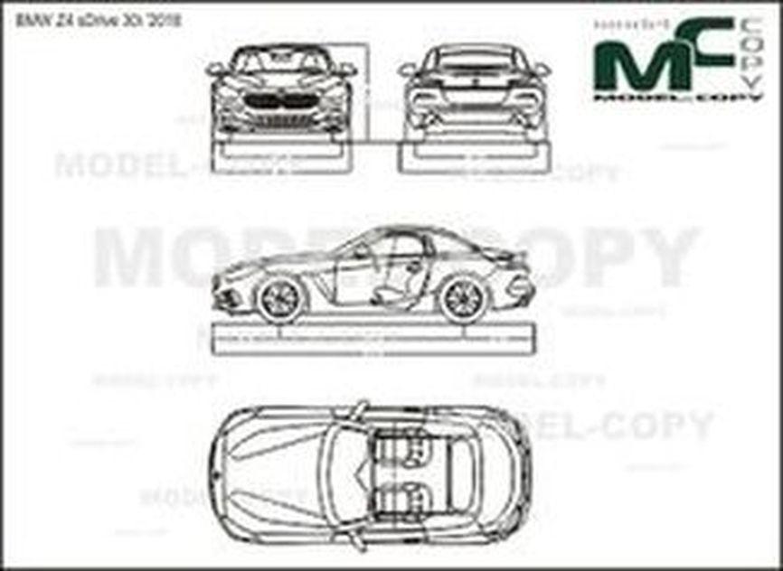 BMW Z4 sDrive 30i '2018 - drawing