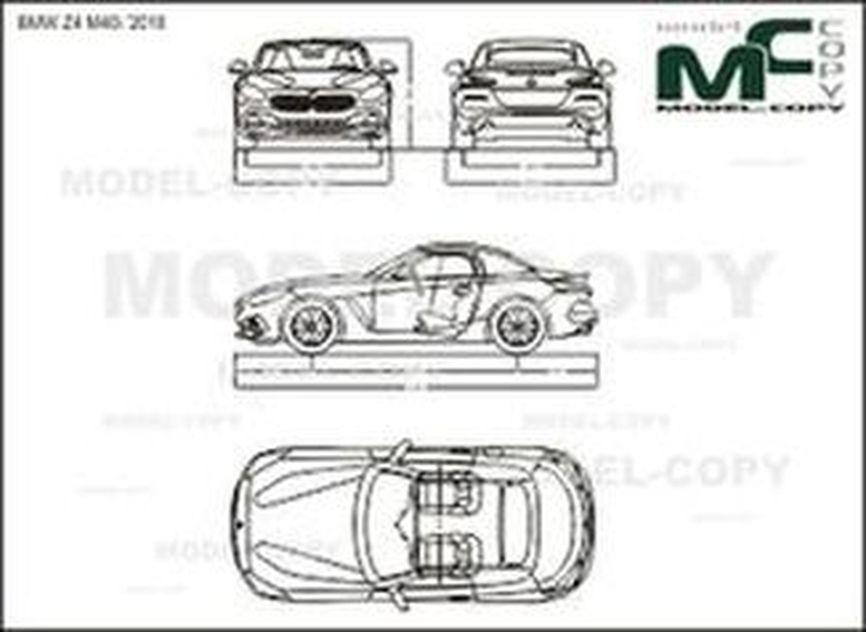 BMW Z4 M40i '2018 - drawing